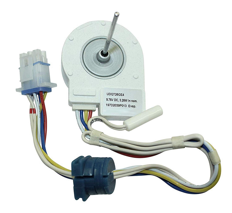 GE HSS25GFPAWW対応の冷蔵庫用蒸発器ファンモーター&温度計。   B07GFMHXCK
