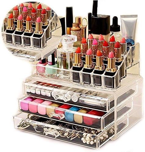 Organizador Maquillaje Caja Cosméticos Transparente Acrílico Para ...