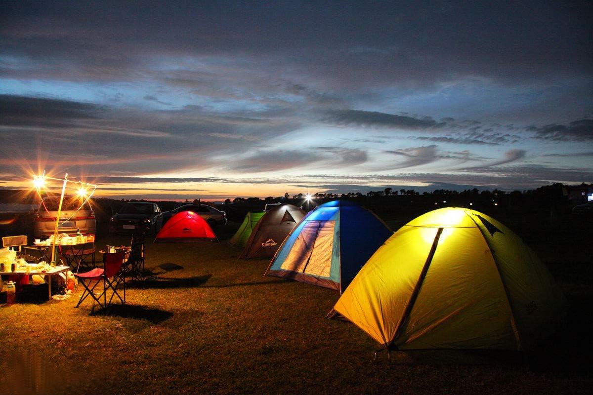 Lampe de Tente Camping pour Randonn/ée P/êche Camping /éclairage de Secours et Autres Activit/és de Plein Aair Blanc Chaud Falale 5W Ampoule LED USB Portable