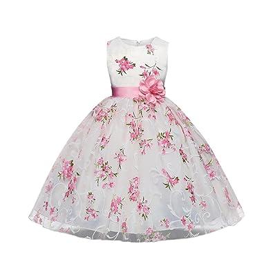 Aiweijia Aiweijia Mädchen ärmelloses Kleid Hochzeitsgesellschaft ...