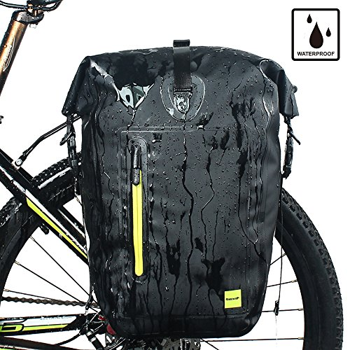 aterproof Bike Pannier for Biycle Cargo Rack 25L Postman Saddle Bag Shoulder Bag Laptop Pannier Rack Bicycle Bag Professional Cycling Accessories (Two in one) ()