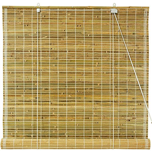 All Natural Woven Bamboo Roll up Blind, 36