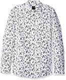 A|X Armani Exchange Men's Ax Logo Pronted Ls Button up, White, Small