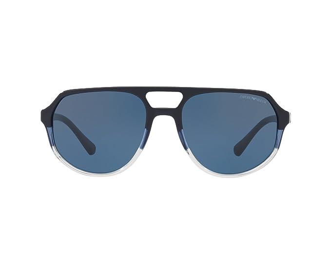 Emporio Armani 0EA4111, Gafas de Sol para Hombre, Dark Blue Aqua, 57