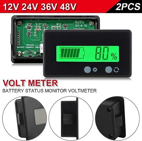 Waterproof 12V 63V LCD Battery Capacity Voltage Tester Indicator Lead-acid Meter