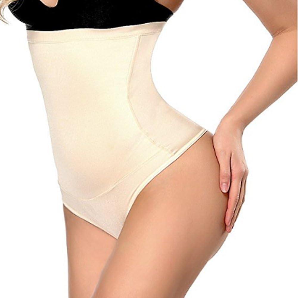 Intimo Modellante da Donna Guaina Contenitiva a Vita Alta Mutande Contenitive Pantaloncini Thong Shapewear Dimagrante