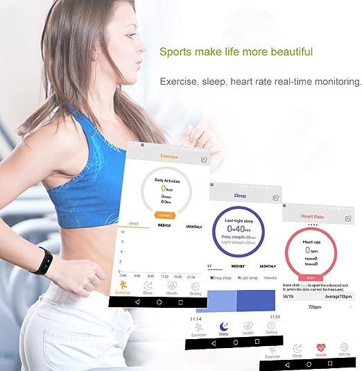 XCSOURCE Tracker dActivit/é Etanche IP67 Bracelet Connect/é Bluetooth 4.0 Smart Bracelet Connect/é Podom/ètre Traqueur de Sommeil Fitness Tracker Montre Sport pour iPhone Samsung Android iOS Smartphone pour Femme Homme Enfant AC315