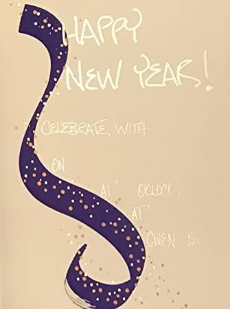 Amazon Com 20 Silver Foil Embellished Happy New Year
