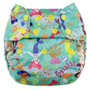 Blueberry One Size Simplex All In One Cloth Diapers, Made in USA (Mermaids)