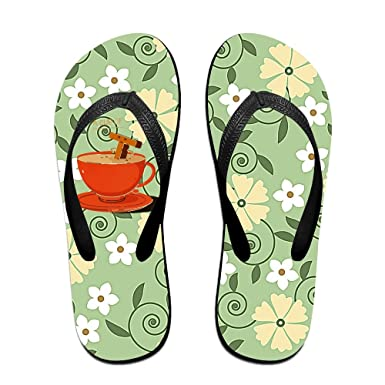 d82e17e365bf3 Amazon.com  Mhmkrot A Cup Of Tea Flip Flops For Mens   Womens  Clothing