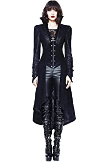 be48d5409faace Devil Fashion Women Winter Black Gothic Long Coat Steampunk Vintage Style  Sexy Palace Stand Collar Jacket