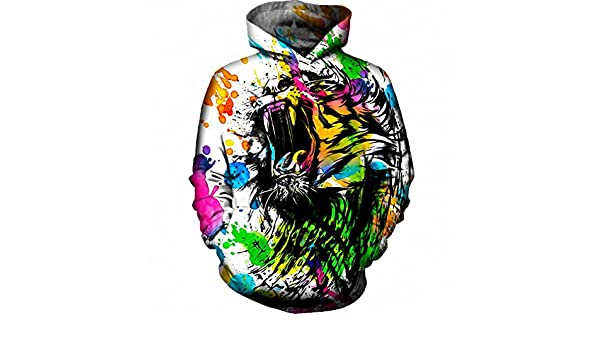 Amazon.com: NEW Autumn Winter Watercolor Tiger Hoodie Sweatshirt Hip Hop Streetwear Hoody Hooded Plus Size 4XL Dropship hoodies men 4XL: Clothing