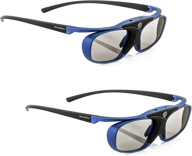 2x Hi Shock Bt Pro Deep Heaven Aktive 3d Brille Für 3d Computer Zubehör