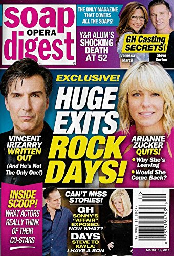 Arianne Zucker   Vincent Irizarry  Days Of Our Lives    March 13  2017 Soap Opera Digest