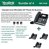 Yealink SIP-T42G - Bundle of 4 Gigabit Color IP Phone 6 Line Keys with LED Wall Mountable