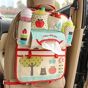 cartoon car seat organizer backseat organizer for kids multi pocket travel storage bag