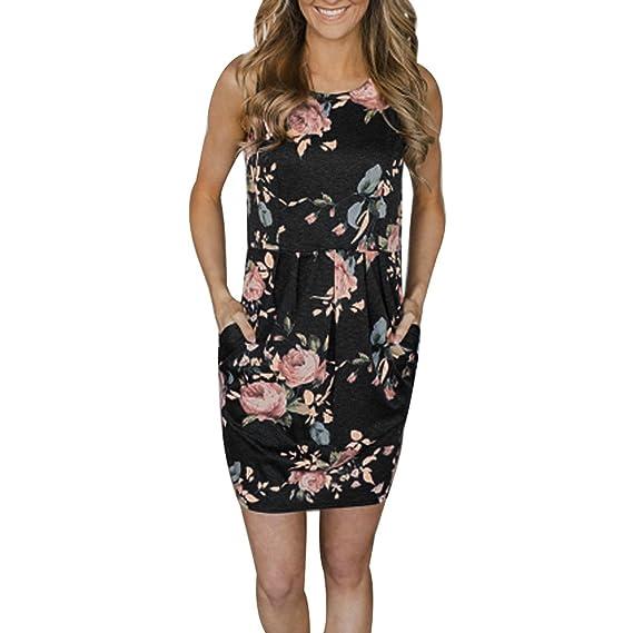 Keepwin Vestido Mujer Verano 2018, Vestido De Fiesta De Noche Vestido Floral De Playa Vintage Vestidos Falda Vestido Boho Para Mujeres Evening Party Mini ...