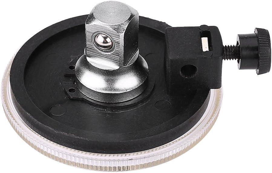 Qiilu Torsion Angle Gauge 1//2 Inch Adjustable Drive Angle Torsion Wrench Measure Car Gauge Tool Set 360 Degree Angle