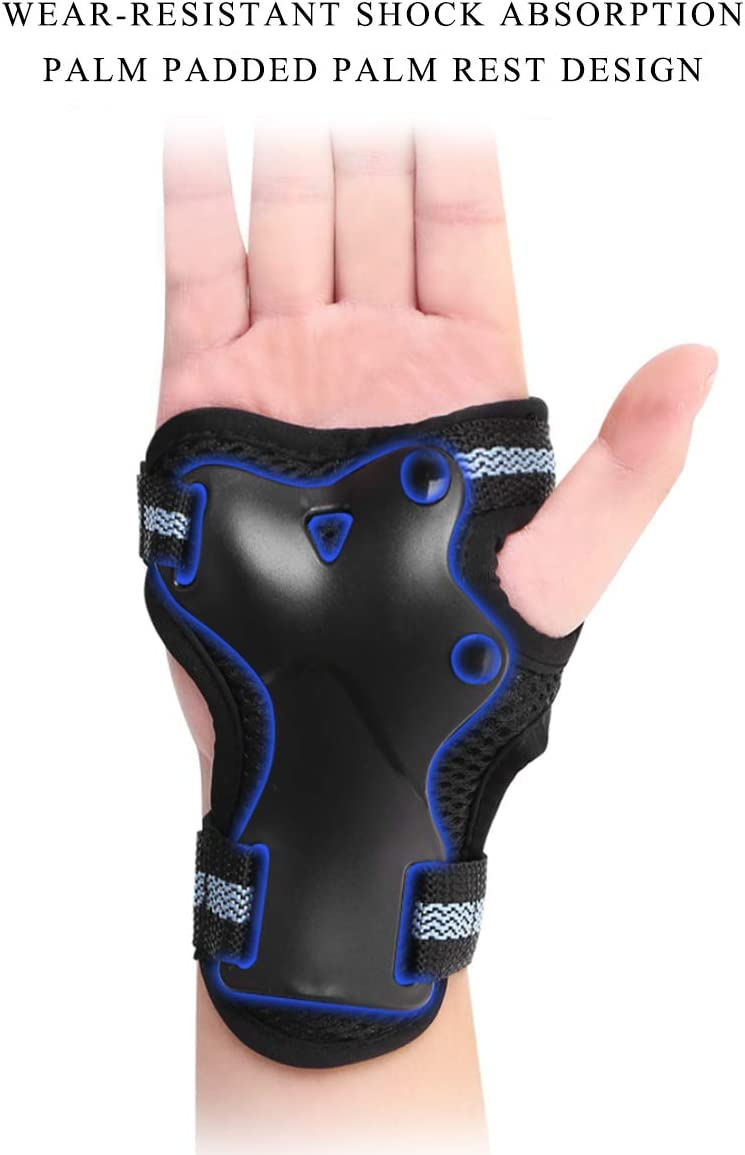 protector de rodilla para adulto Rodilleras de protecci/ón de traje de 6 piezas Almohadillas para cines para patinaje sobre ruedas Patinaje de bicicleta Juego de equipo de protecci/ón para adultos
