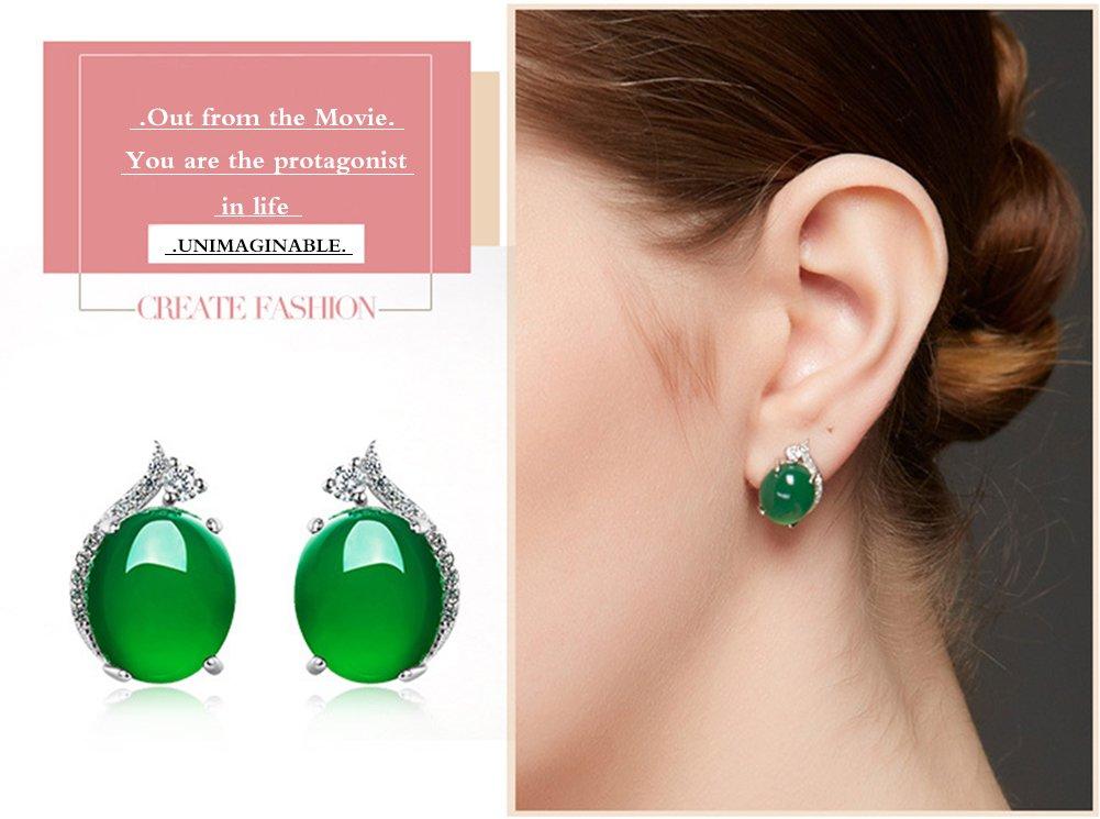 aiuin una par de pendientes de brillantes verde para mujeres accesorios pendientes mujeres El/égance Mode pendientes de estilo nuevo