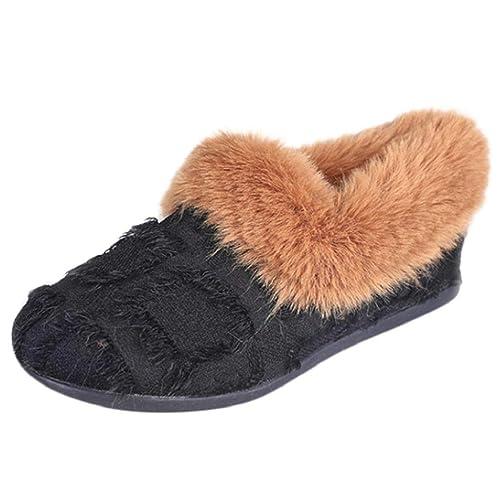 QUICKLYLY Zapatillas Casa Mujer Invierno Navidad/Abiertas,Zapatos Mujer Otoño/Invierno 2018,