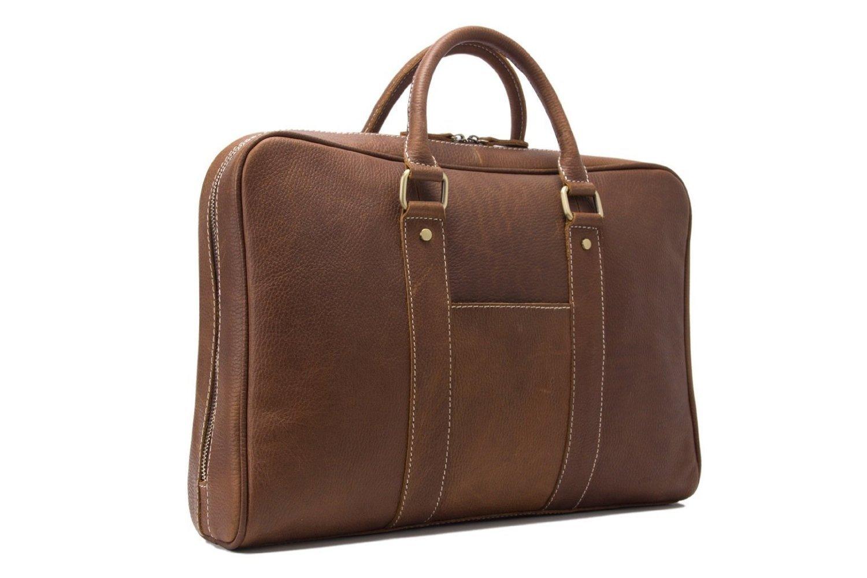 Jellybean Gorilla Handcrafted Full Grain Genuine Leather Business Briefcase Men Messenger Bag for 15-Inch Laptop by Jellybean Gorilla (Image #2)
