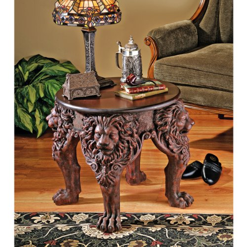 """21"""" Medieval Gothic Antique Replica Occasional Side Table"""