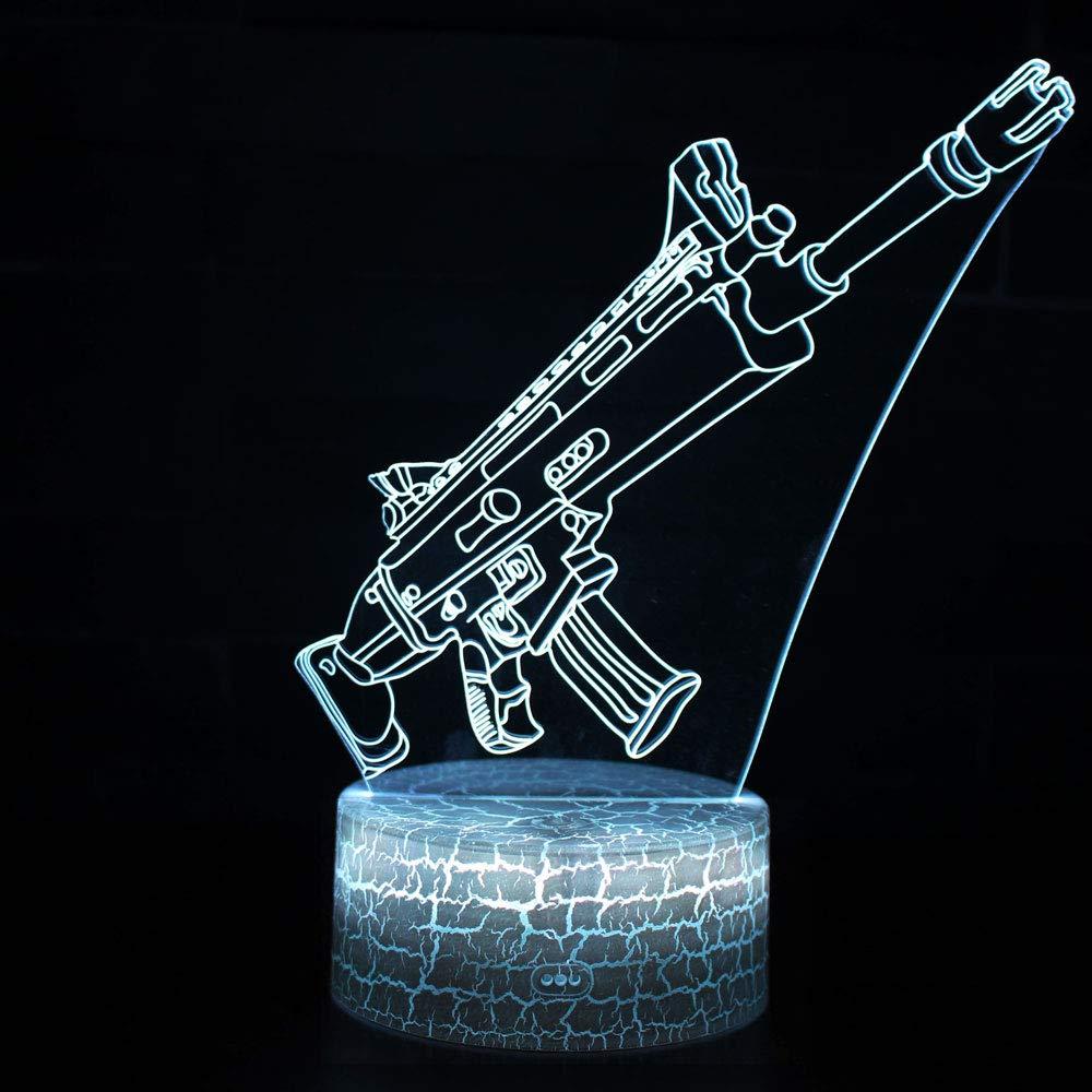 3D Illusion Nuit Lumière Win-Y LED Bureau Table Lampe 7 Couleur Tactile Lampe Maison Chambre Bureau Décor pour Enfants D'anniversaire De Noël Cadeau (Predator)