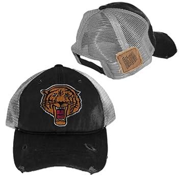 Reebok Brooklyn Tigres Negro Desgastado Vintage Adj Malla Gorra ...