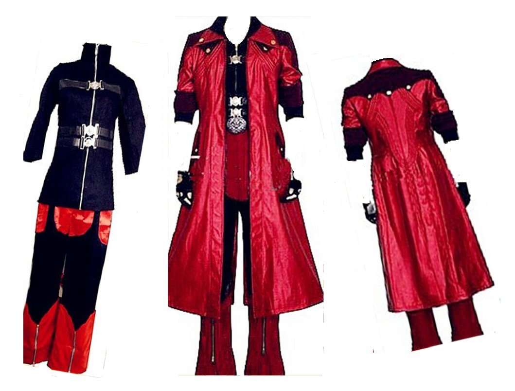 Devil May Cry IV 4 Dante Cosplay Costume + free Wig