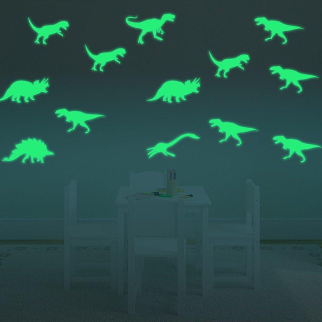 Sharplace Glow in The Dark of Set en PVC de Forme Plafonds Murs Autocollants Fluorescents 12x Football