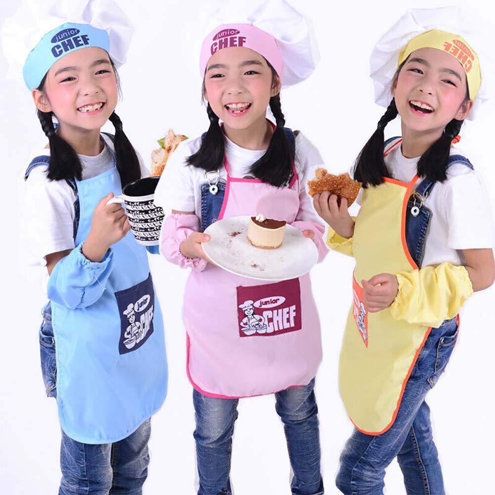 Kids Chef Apron Children Kitchen Cooking Baking Cooks Play Bibs Fancy Dress Gift