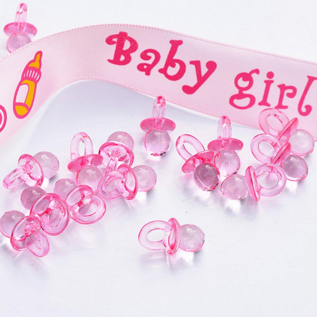 Amazon.com: 144 Pieces Mini Acrylic Baby Pacifiers Baby ...