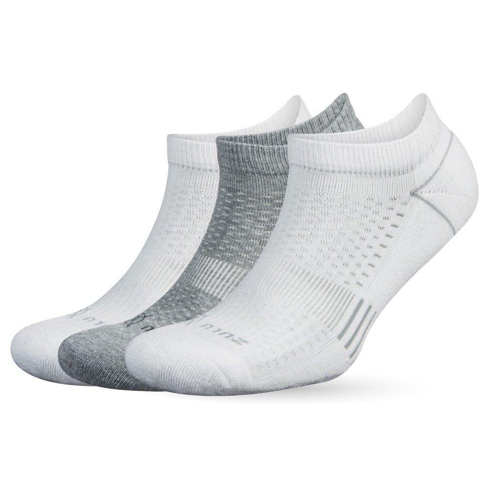 Balega Zulu No Show Socks for Men and Women (3 Pairs), White, Small