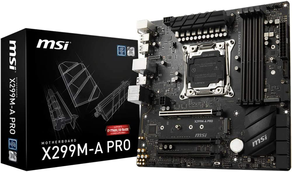 Msi X299M-APRO X299m A Pro, Black