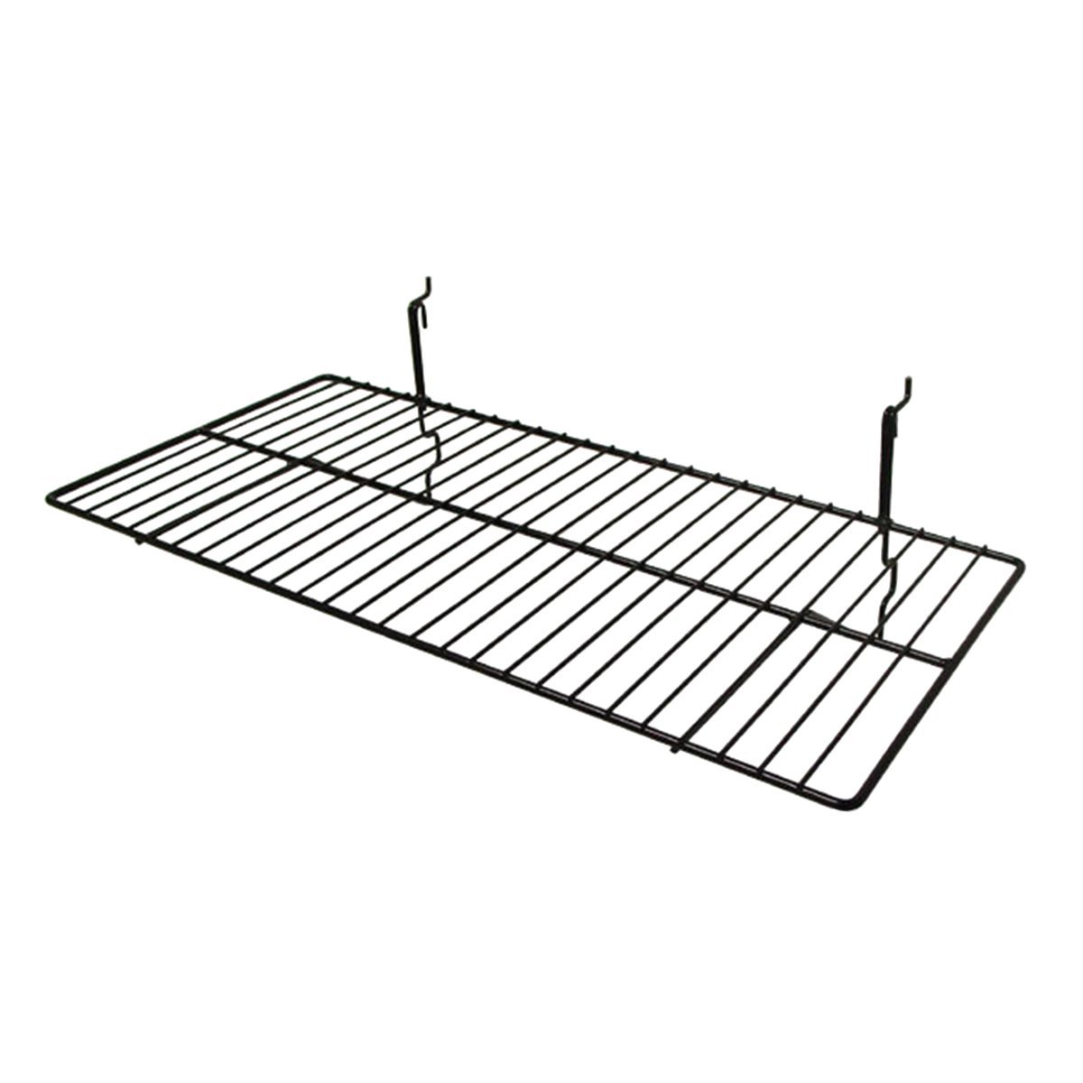 Black AMKOA BSK2412//BLK Wire Shelf and Cap Displayers for Gridwall and Slatwall Pack of 6