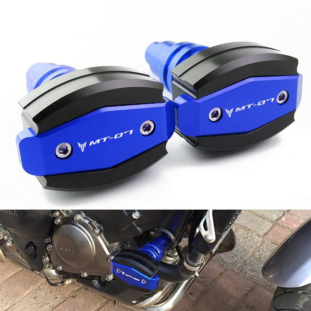 Motorrad Sturzschutz Sturzpads Crashpads Frame Sliders Falling Crash Pad Protektoren fü r Yamaha MT07 MT-07 2015 2016 2017 2018 BXMoto Yamaha MT07 2015-2018