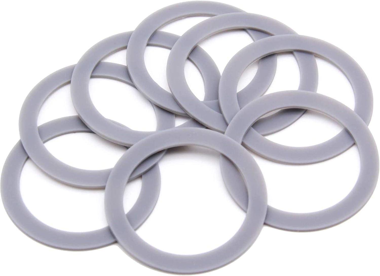 132812-07 Blender Rubber Gasket 2.6inch, Include 8 Packs O Ring Seal, Replace Part, Fit for Black & Decker Models BL5000-08 BL1900 BL3900 BL4900 BL5000 BL5900 BL6000