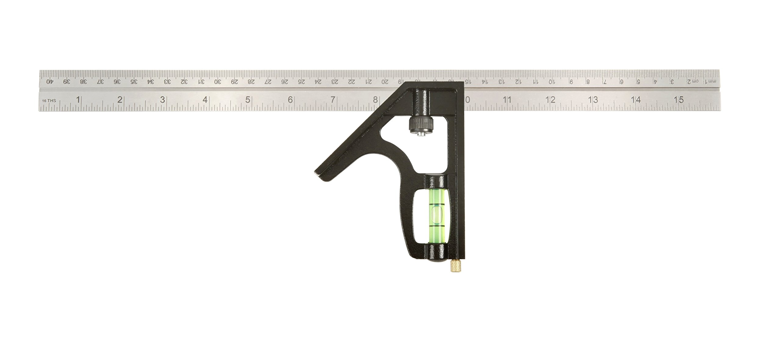 Johnson Level & Tool 420EM-S Heavy Duty Professional Inch/Metric Stainless Steel Combination Square, 16''