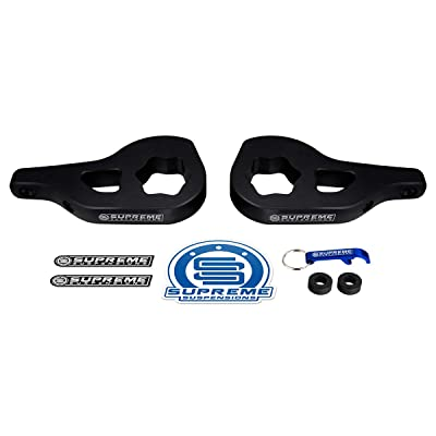 "Supreme Suspensions - Front Leveling Kit for Dodge Ram 1500 Adjustable 1"" - 3"" Front Suspension Lift Cold-Forged MAX-Torsion Keys 4WD 4x4 (Black): Automotive"