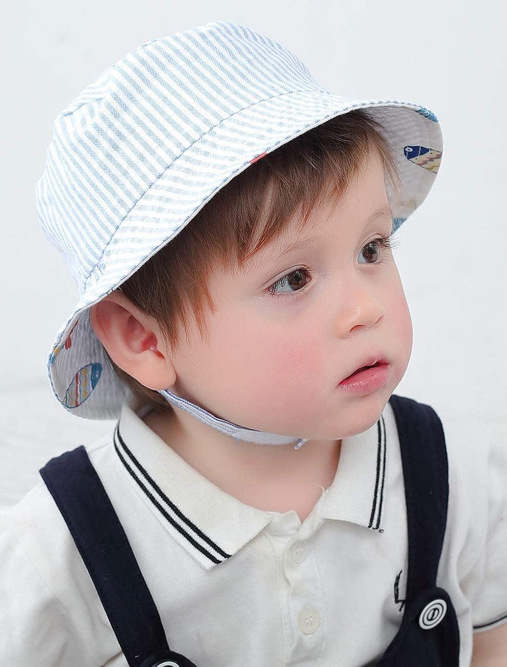 Ateid Baby Boys Bucket Sun Hat Summer Reversible