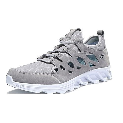 Sneakers Deportivas Hombre Hueco Zapatillas Trail Running Transpirables Verano Zapatos Jogging Cordones Antideslizante Negro Marron Gris 38-43: Amazon.es: ...