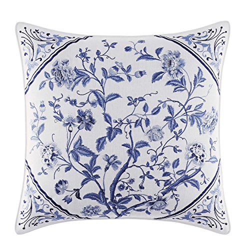 Laura Ashley 211394 Charlotte Decorative Pillow, 16 x 16, Blue supplier