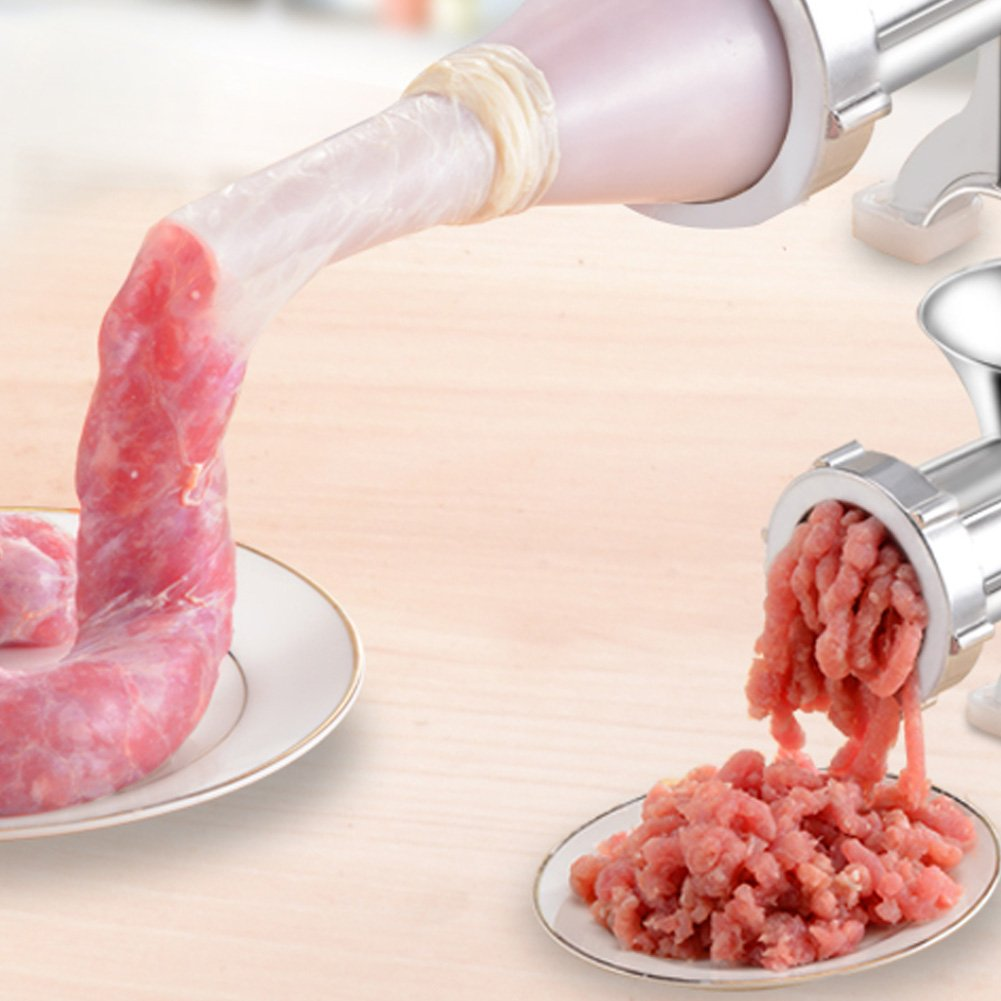 Juego de 4 tubos de salchicha de plástico para molinillo de carne, molinillo de picadora Lionina