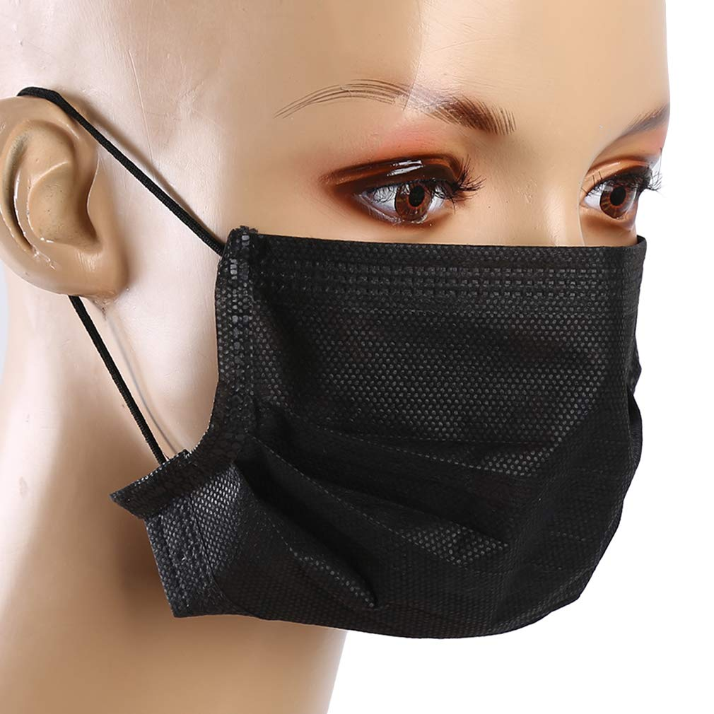 bleu ZNMUCgs 50 masques jetables de couche faciale chirurgicale /à double couche de masques multifonctionnels de masque respiratoire anti-poussi/ère pour femmes hommes
