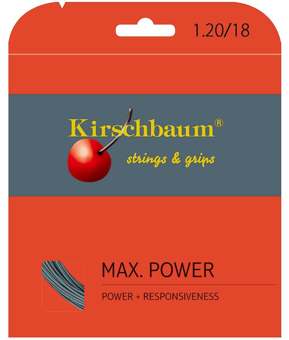 Kirschbaum Max Power Garniture Cordage de Tennis Gris 1,20 mm x 12 m