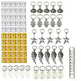 Best KeyZone Bracelets - KeyZone 90 Pieces Hair Jewelry Rings Clips Aluminum Review