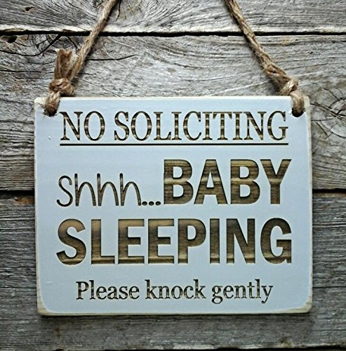 Amazon No Soliciting Shhhby Sleeping Front Door Sign