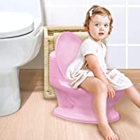 Nuby My Real Potty Training Toilet with Life-Like Flush Button & Sound for Toddlers & Kids, Pink
