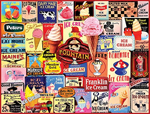 Ice Cream Collage - 1000 Piece Jigsaw Puzzle